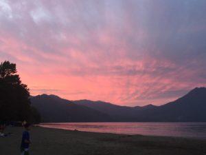 美笛キャンプ場の景色