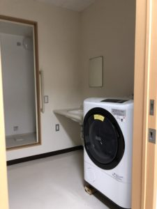 女性専用のお風呂場・洗濯機